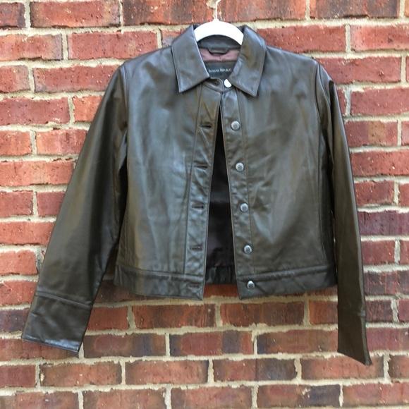 Banana Republic Jackets & Blazers - Banana Republic Brown Leather Moro Jacket